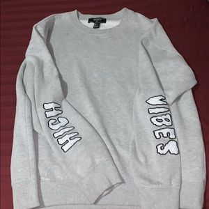 Forever 21 over-sized grey sweatshirt